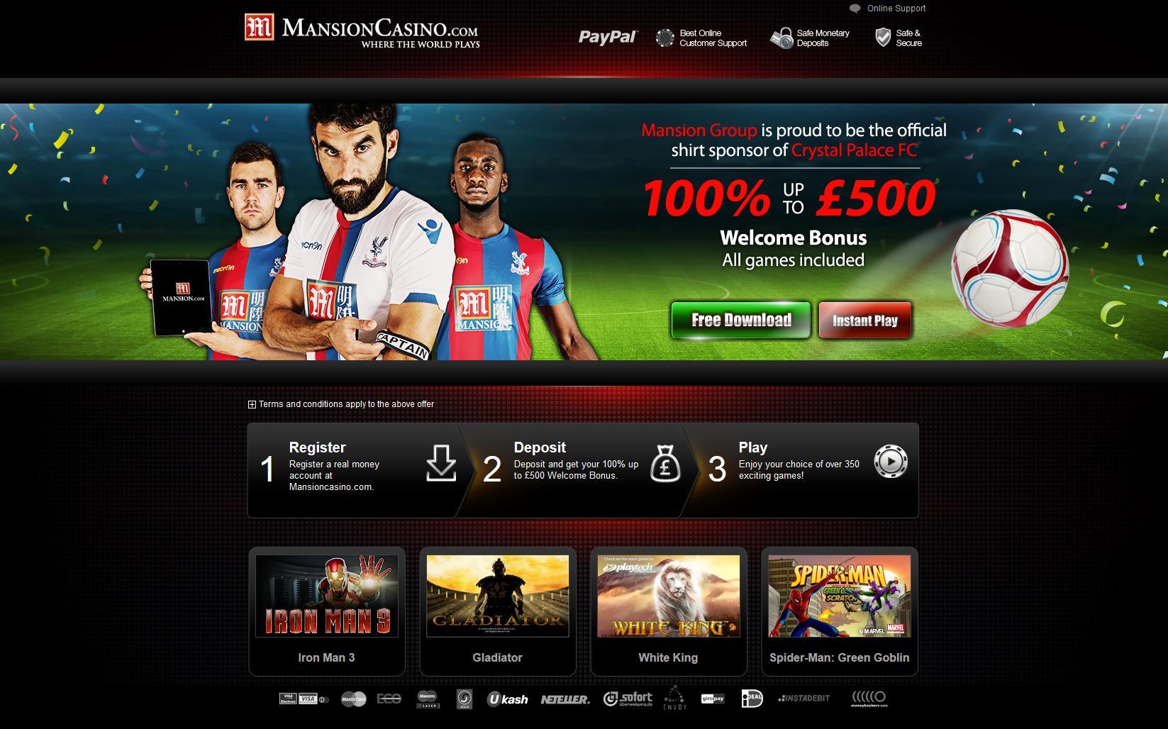mansion online casino bingo kugeln