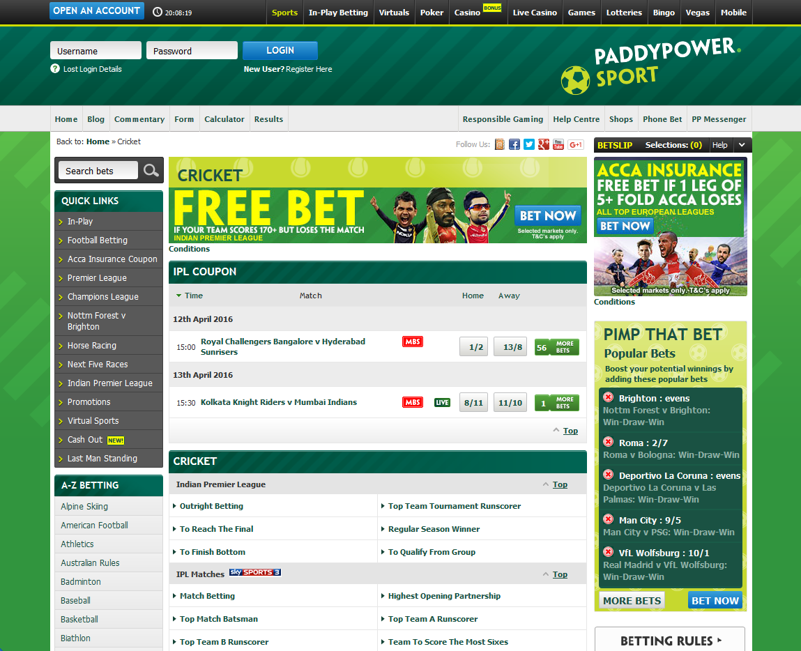 Online cricket betting sites